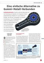 Eine einfache Alternative zu Gummi-Metall-Verbunden - KraussMaffei