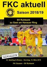 FKC Aktuell - 23. Spieltag - Saison 2018/2019