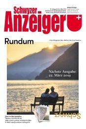 Schwyzer Anzeiger – Woche 10 – 8. März 2019