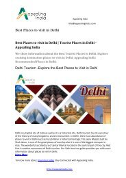 Best Places to visit in Delhi Tourist Places in Delhi - Appealing India-converted