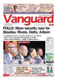 06032019 - POLLS: More security men for Bayelsa, Rivers, Delta, A-Ibom