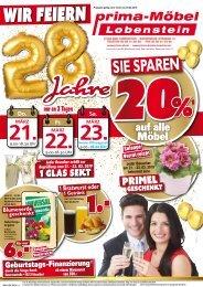 Wir feiern 28 jahre Prima Möbel Lobenstein