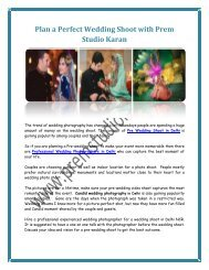 Plan a Perfect Wedding Shoot with Prem Studio Karan