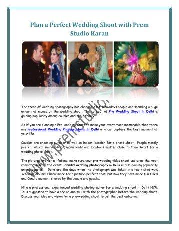 Plan a Perfect Wedding Shoot with Prem Studio Karan