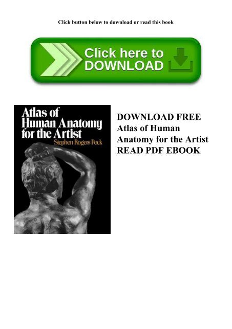 DOWNLOAD FREE Atlas of Human Anatomy for the Artist