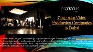 Video Poduction in Dubai  Video Production Company Dubai