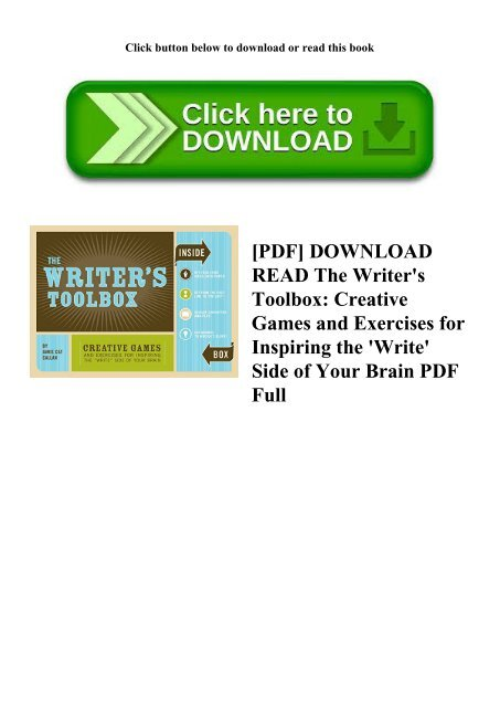 PDF] DOWNLOAD READ The Writer's Toolbox Creative Games and
