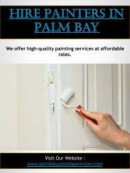 Hire Painters In Palm Bay