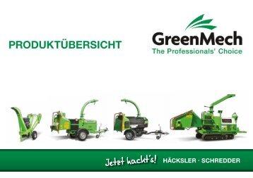 GreenMech Holzhäcksler Katalog