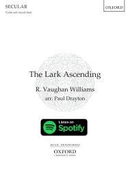 Vaughan Williams arr Drayton The Lark Ascending