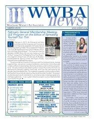 WWBA March 2019 Newsletter - M