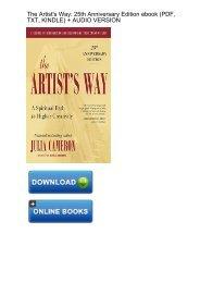 (QUICK) Download Artists Way 25th Anniversary ebook eBook PDF