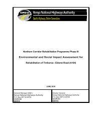 Environmental and Social Impact Assessment - KeNHA