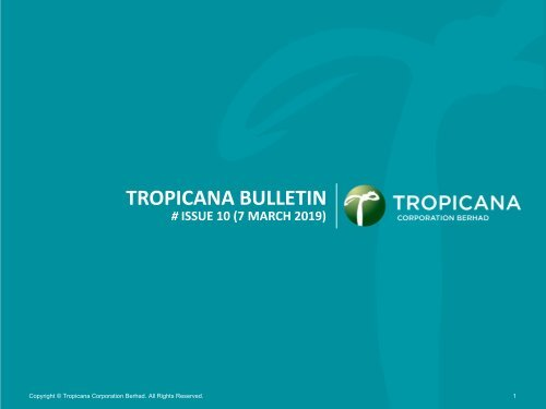 Tropicana Bulletin Issue 10, 2019