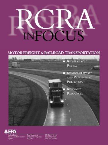 RCRA in Focus: Motor Freight & Railroad Transportation
