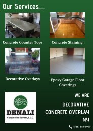 Decorative Concrete Overlay NY