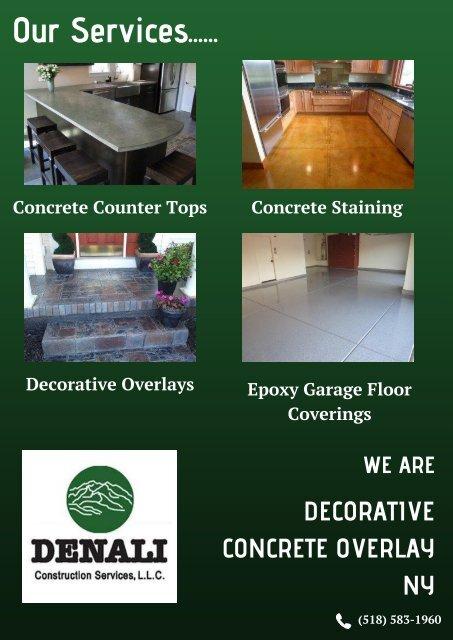 Decorative Concrete Overlay NY