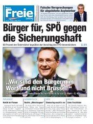 Bürger für, SPÖ gegen die Sicherungshaft