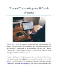 Tips and Tricks to Improve SEO with Blogging