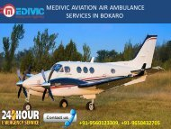 life support Air Ambulance service in Bokaro and Jamshedpur by Medivic Aviation