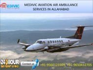 Hire quick Air Ambulance service in Allahabad and Varanasi by Medivic Aviation