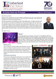 Principals Letter February 2019