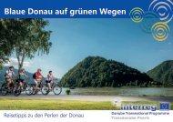 Blaue Donau auf grünen Wegen - Broschüre
