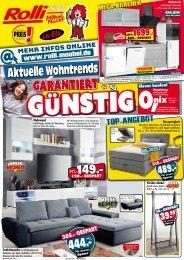 Aktuelle Wohntrends - garantiert günstig: Rolli SB-Möbelmarkt in 65604 Elz / Limburg