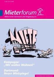 Mieterforum Dortmund - Ausgabe I/2019 (Nr. 55)