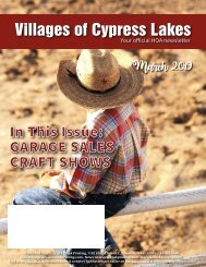 Villages of Cypress Lakes March 2019