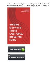 (MIRACLE) Download adidas Bernard Tapie faits French ebook eBook PDF