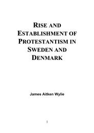 Protestantism in Sweden and Denmark - James Aitken Wylie