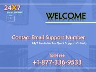 Contact Email Support Number 1877-503-0107