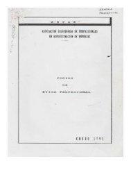 CODIGO DE ETICA DE ASPAE - 1° DE FEBRERO 1995