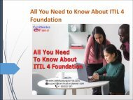 All You Need to Know About ITIL 4 Foundation