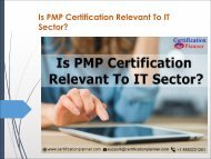 Is PMP Certification Relevant To IT Sector