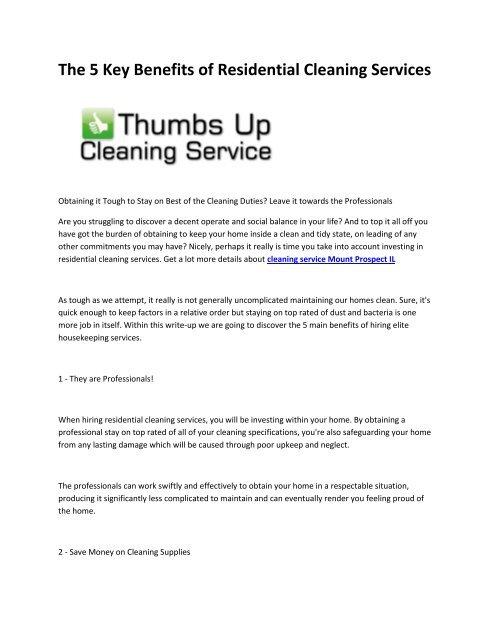 6 cleaning service Chicago
