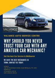 Why Should You Never Trust Your Car With Any Amateur Car Mechanic? - Valiance