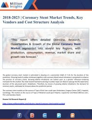 2018-2023 Coronary Stent Market Trends, Key Vendors and Cost Structure Analysis