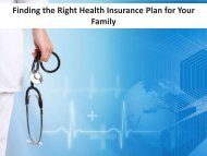 Finding the Right Health Insurance Plan for Your Family