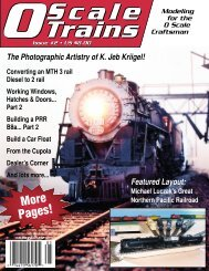 More Pages! - O scale trains