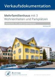 Verkausfdokumentation Weinsteig 197, Schaffhausen