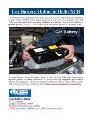 Car Battery Online in Delhi NCR