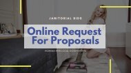 Janitorial RFP - Online Request For Proposals | Bid Opportunities