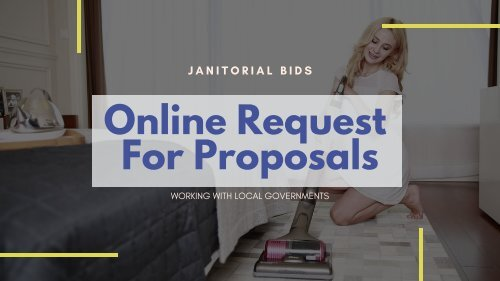 Janitorial RFP - Online Request For Proposals   Bid Opportunities