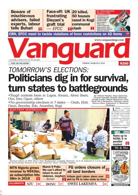 08032019 - Politicians dig in for survival, turn states to battlegrounds