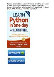 PDF Download C# Learn C# in One Day and Learn It Well  C#