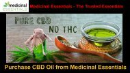 Buy CBD Oil From Medicinal Essentials