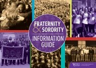 Fraternity & Sorority Information Guide