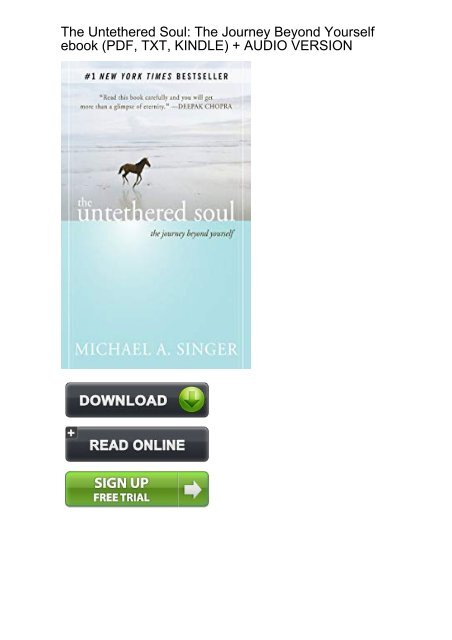 The Untethered Soul Ebook